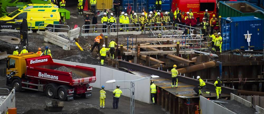 Byggarbetsplats Slussen
