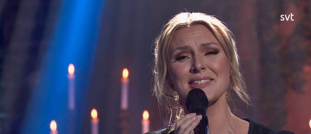Sanna Nielsen i SVT:s Musikkalender 2020.