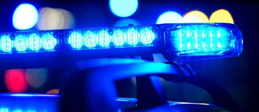 Polisbil med sirenerna påslagna. Illustrationsbild.