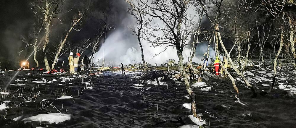 Brandplatsen i Andø.