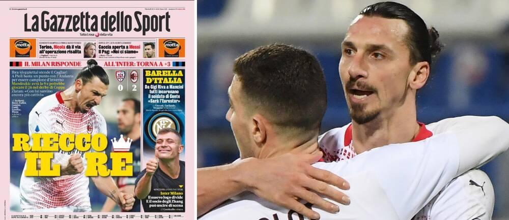 Ibrahimovic hyllas efter nya målsuccén.