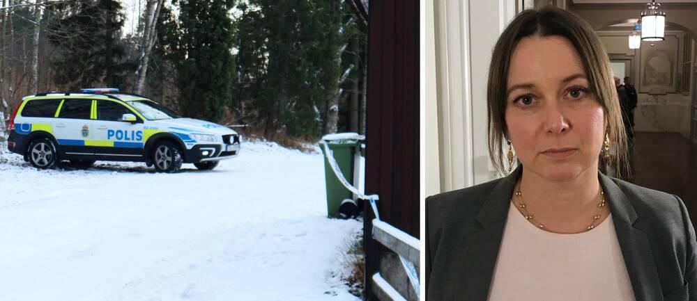 misstänkta för att ha mördat en äldre man i en bostad nordost om Rödeby, åklagare Hedvig Lundblad