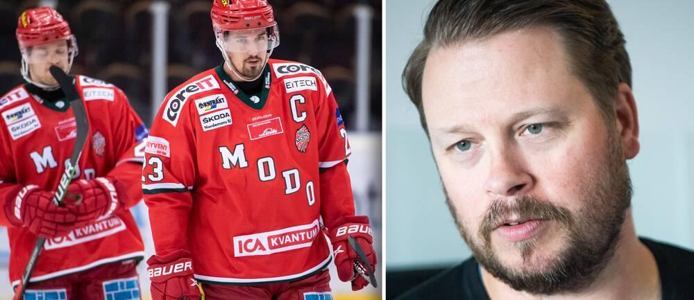 Modos sportchef Fredrik Glader blev mordhotad efter lagets förlust under onsdag kväll.