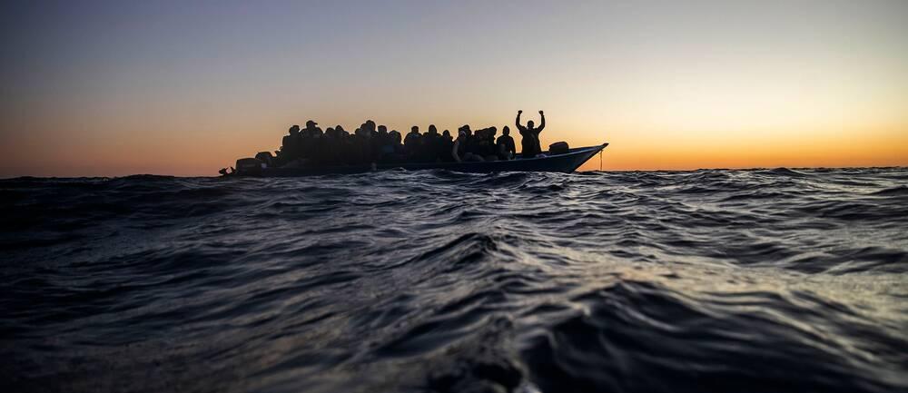 Migranter och flyktingar från Afrika riskerar livet på väg till Europa. Arkivbild.