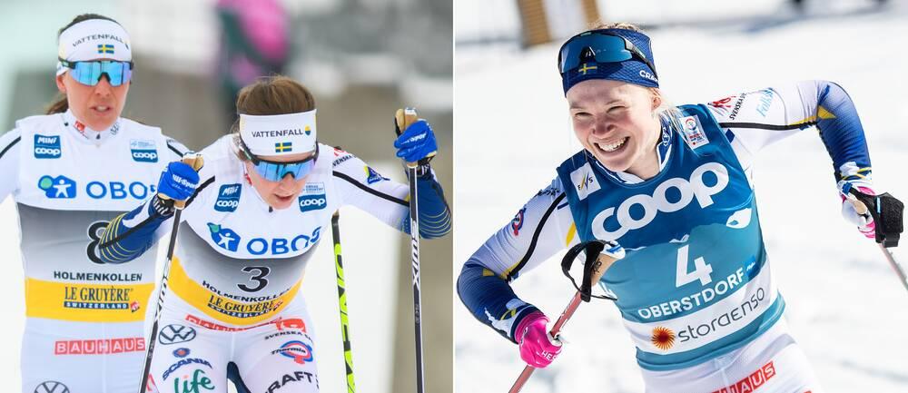 Charlotte Kalla, Ebba Andersson och Jonna Sundling.