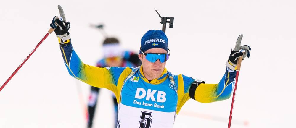 Sebastian Samuelsson blev tvåa i sprinten.
