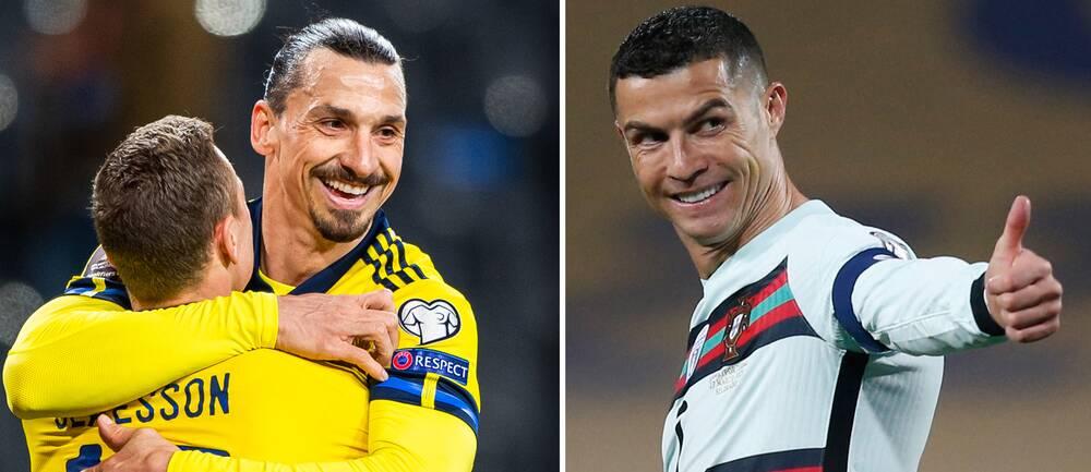 Uefa bekräftar publik under fotbolls-EM. Det gillar säkert Zlatan Ibrahimovic och Cristiano Ronaldo.