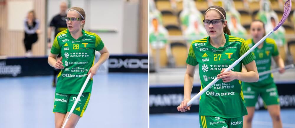 Tvillingarna Veera (till vänster) och Oona Kauppi fortsätter att ösa in poäng i Team Thoren.