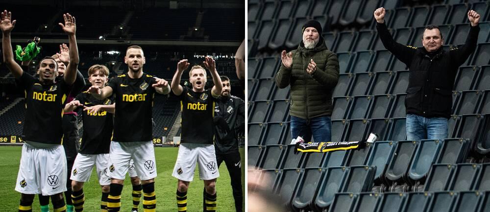 AIK vann den allsvenska premiären – inför åtta åskådare på Friends Arena som i normala fall tar 50000 åskådare.