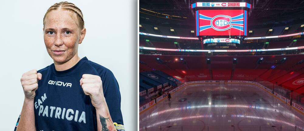 Patricia Berghult ska boxas i NHL-laget Montreals hemmaarena Bell Centre den 18 juni.