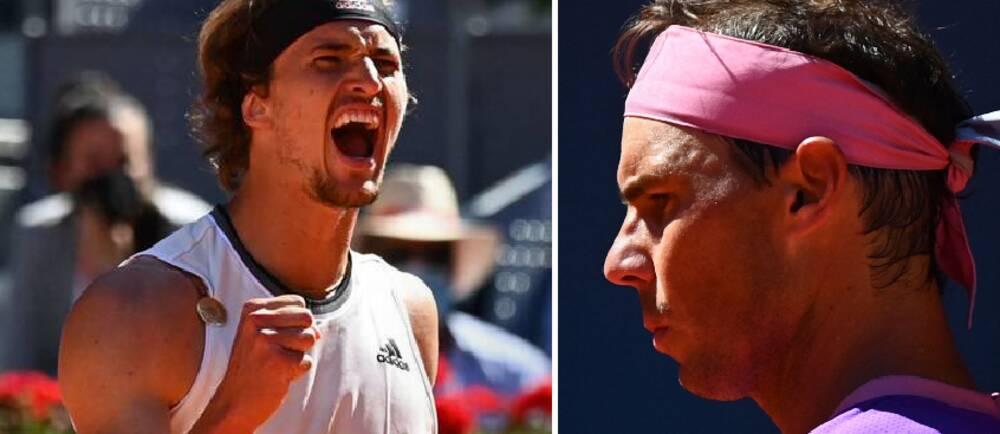 Alexander Zverev var mycket glad efter att ha slagit ut Rafael Nadal på grus på dennes hemmaplan i Madrid.