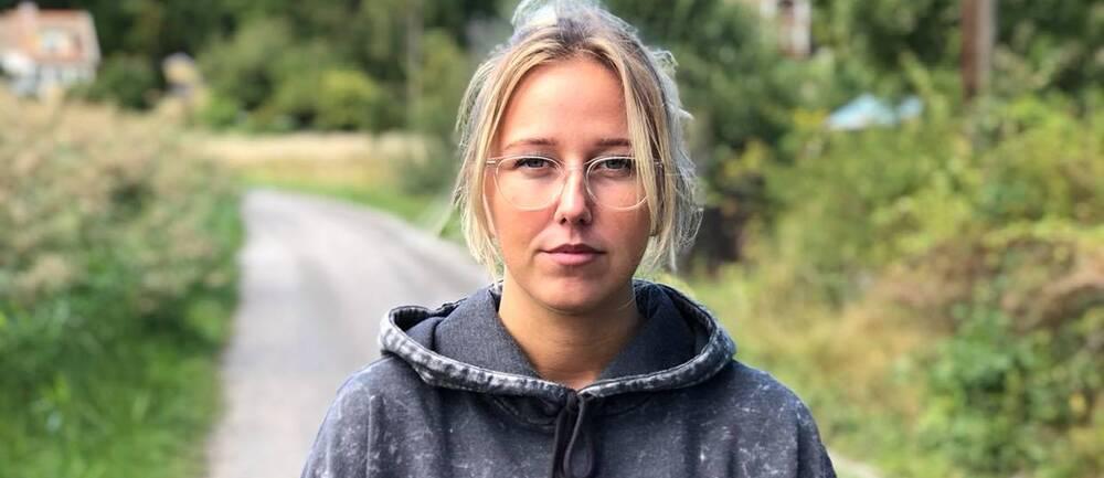 """Helle Dahl är en av de elever som medverkar i SVT:s dokumentär """"På djupt vatten""""."""