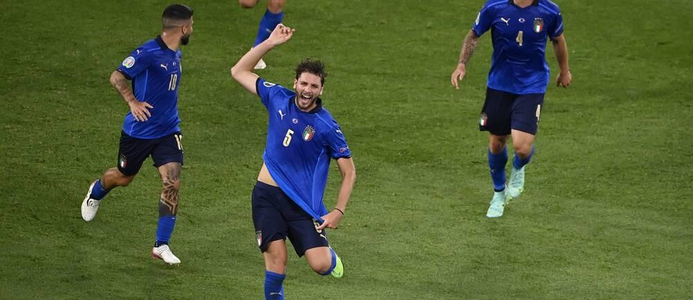 Manuel Locatelli gav Italien ledningen.
