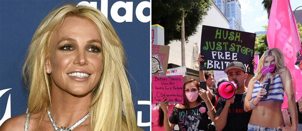 Britney Spears/Fans på plats utanför domstolen i Los Angeles