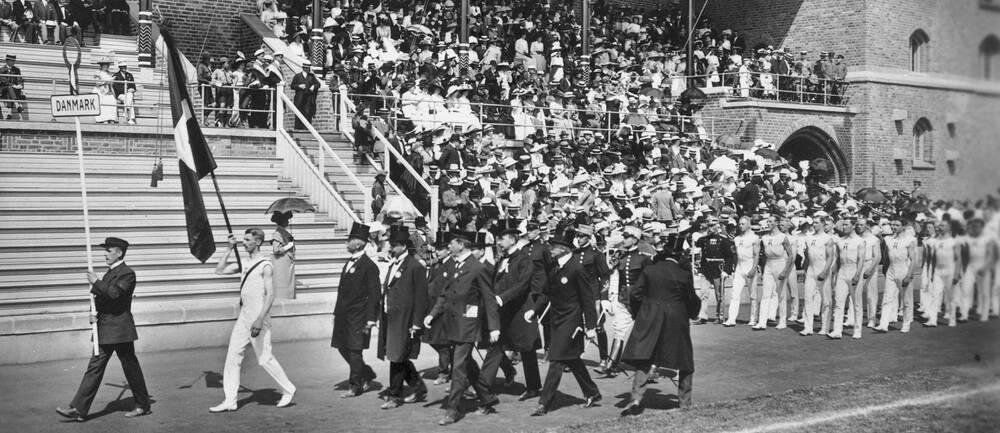 Arkivbild från OS i Stockholm 1912.