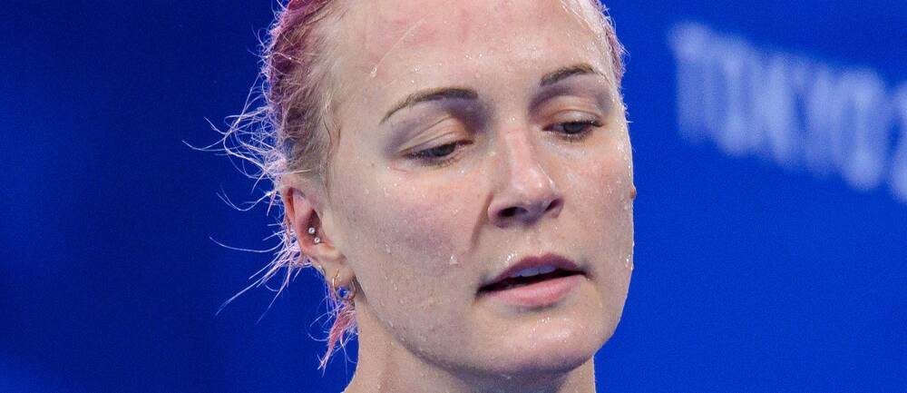 Sarah Sjöström blev femma på 100 meter frisim.