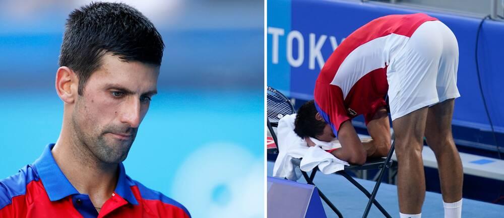 Novak Djokovic föll i bronsmatchen.