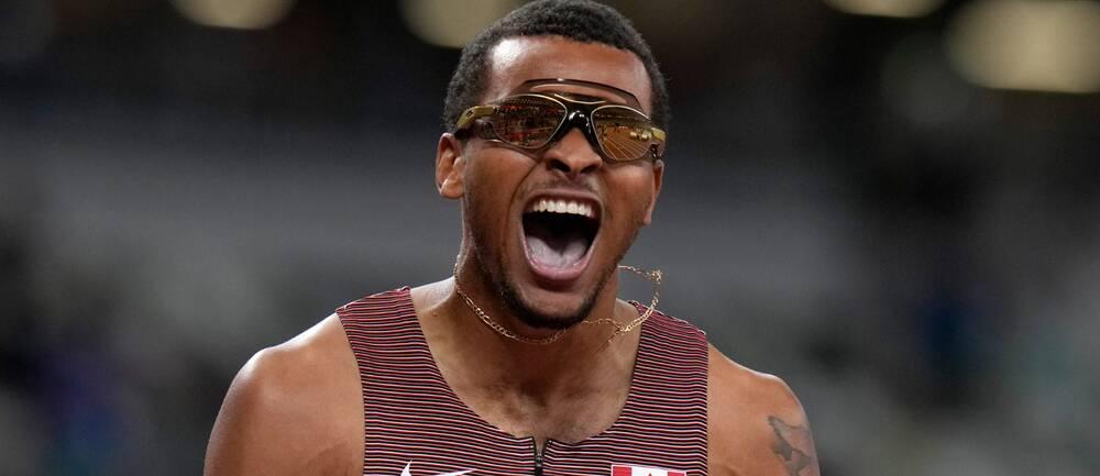 Andre De Grasse vann 200 meters-loppet i OS-finalen.