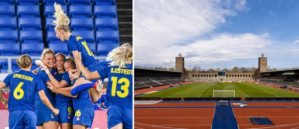 Damlandslagets hyllningsmottagande kommer ske på Stockholms stadion.