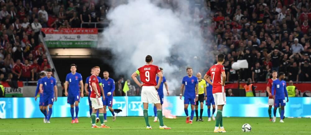Ungern straffas efter VM-kvalmatchen mot England.
