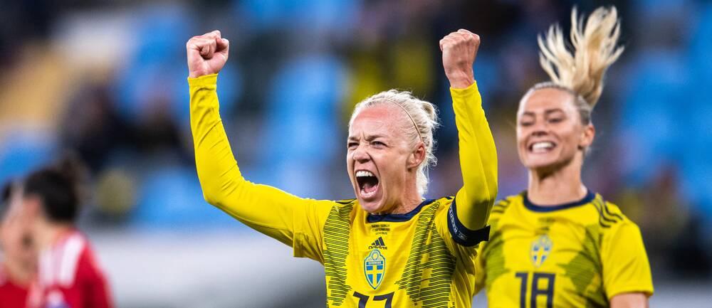 Caroline Seger satte 3-0 från straffpunkten.