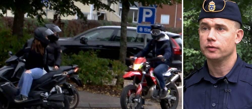Är busåkning med moped fritt fram i Lerum nu? Den frågan besvaras områdespolisen Niklas Lindroth i klippet.