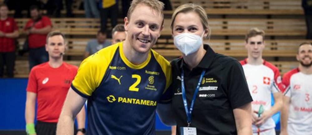 Johan Samuelsson uppmärksammades efter sin 125:e landskamp.