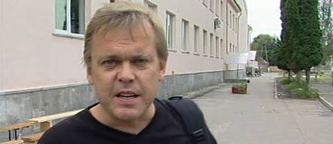 Bert Sundström i Ryska Beslan rapporterande när stormningen av skolan började.