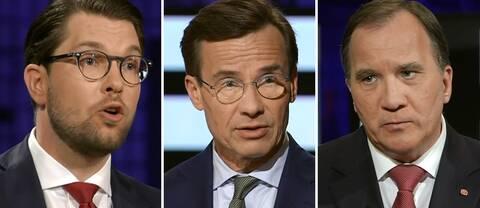 Jimmie Åkesson (SD) och Ulf Kristersson (M) klarade båda debatten bättre än statsminister Stefan Löfven (S) enligt pulbiken, visar Novus undersökning.