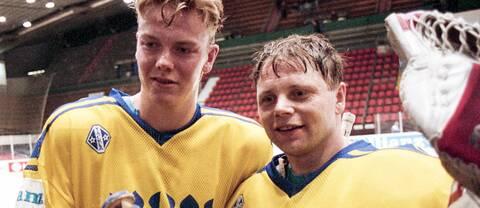 Mats Sundin och Rolf Ridderwall 1991