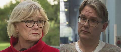 Bokrecensenten Ingalill Mosander och SVT:s programbeställare för livsstil och underhållning, Peter Nyrén.