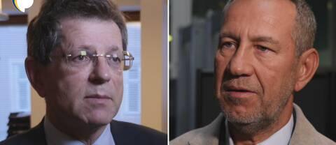 Magnus Henrekson, vd för Institutet för Näringslivsforskning och Sandro Scocco, chefekonom på den vänsterorienterade tankesmedjan Arena Idé