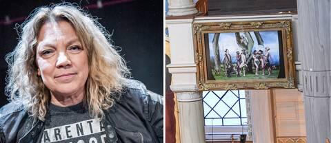 Elisabeth Ohlson Wallin menar att kyrkan i Malmö är oärliga om varför tavlan flyttas.