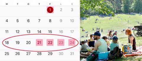 I maj finns goda chanser att med några få semesterdagar få till längre ledighet