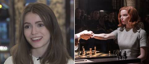 Schackinflueraren Anna Cramling och Anya Taylor-Joy i The Queen's Gambit.