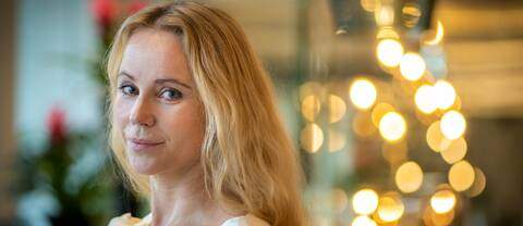 Skådespelaren Sofia Helin.