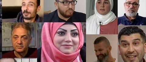 Bildmontage. 2015 intervjuade SVT tolv flyktingar från Syrien – så här mår de idag.