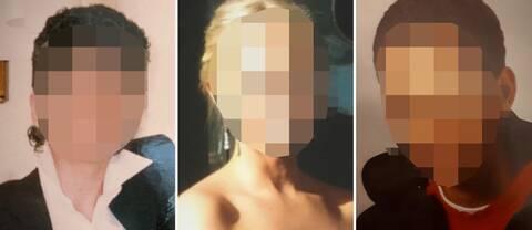 Tre unga människor som alla anslöt till IS.