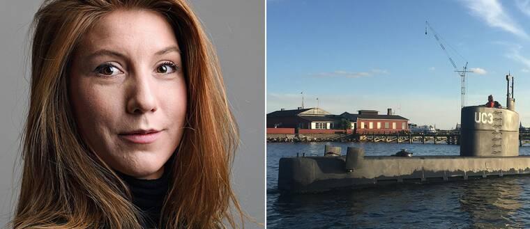 Den svenska journalisten Kim Wall och ubåten Nautilus.