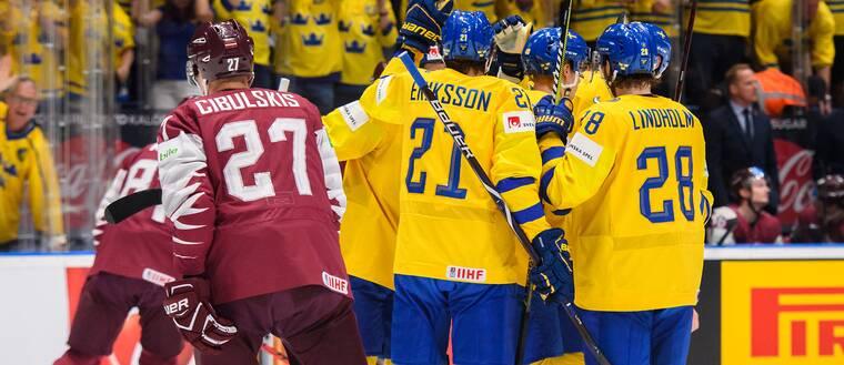 sverige lettland hockey vm