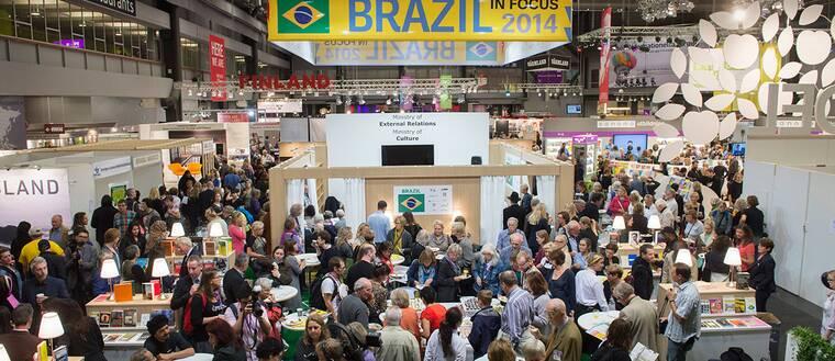 Brasiliens monter på mässan.