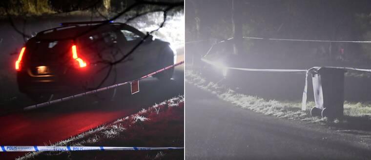 Polisen har spärrat av en stor villatomt utanför Kungsbacka efter det misstänkta mordet på juldagskvällen.
