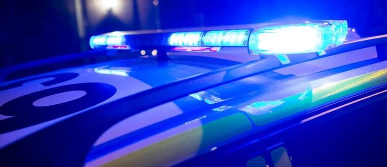 Polisbil blåljus