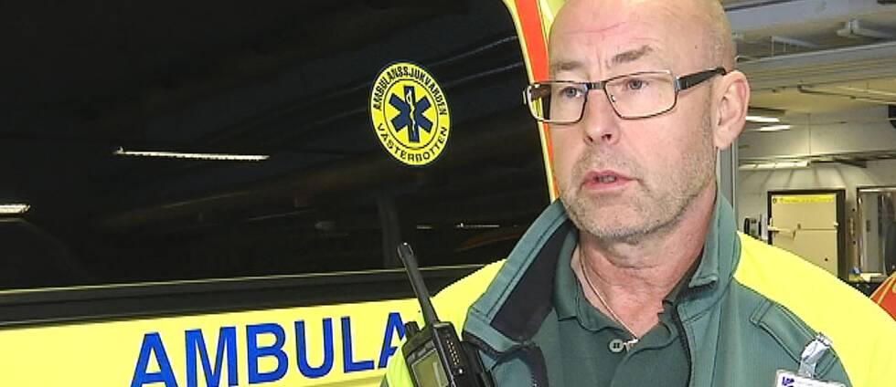 Ronny Friberg, avdelningschef vid ambulansen i Umeå.