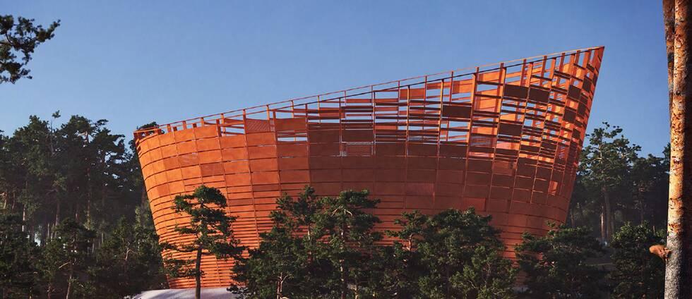 """Nya vattenreservoaren """"Lyra"""" av Lars Anfinset vann arkitekttävlingen."""