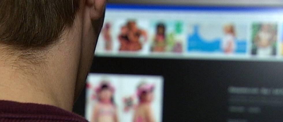 man vid dator, barnpornografi
