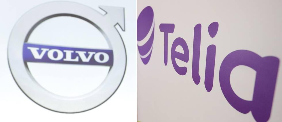 Börsbolagen Volvo och Telia ökar sina vinster tredje kvartalet jämfört med samma period förra året.