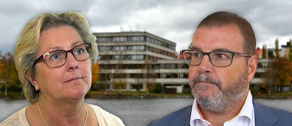 Lena Asplund (M) och Jonny Lundin (C)