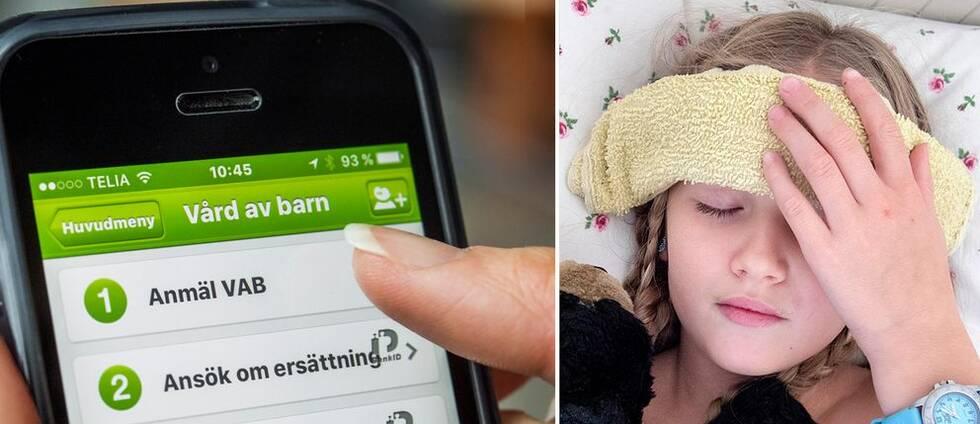 En telefon och ett sjukt barn.