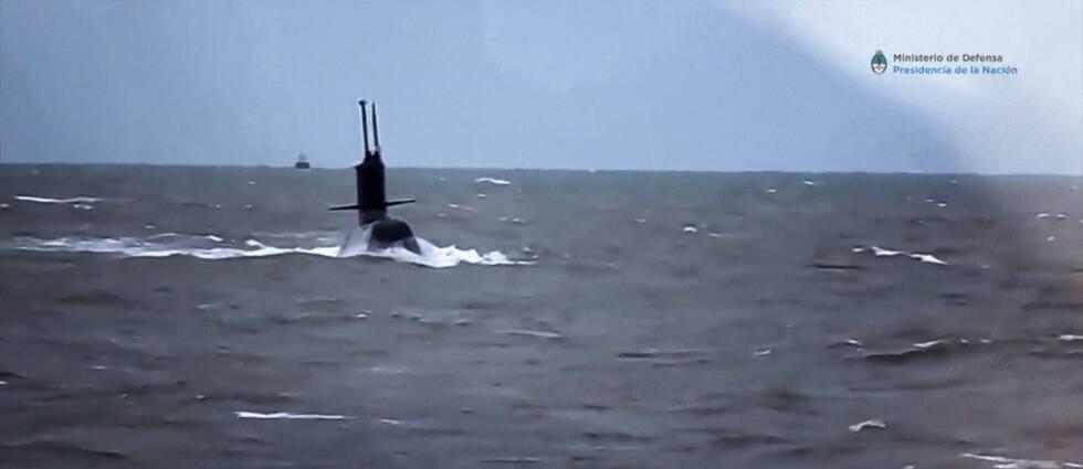 Den försvunna ubåten Ara San Juan innan försvinnandet.
